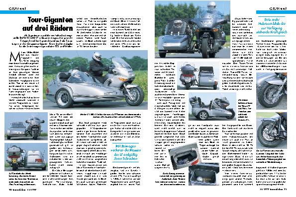 BMW-K 1200 LT-Gespanne // EZS-Summit // Walter-Stoye RS