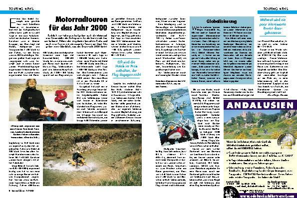 Motorradtouren für das Jahr 2000