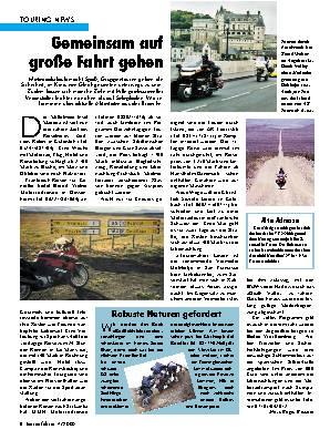 Touring-News Gemeinsam auf große Fahrt gehen