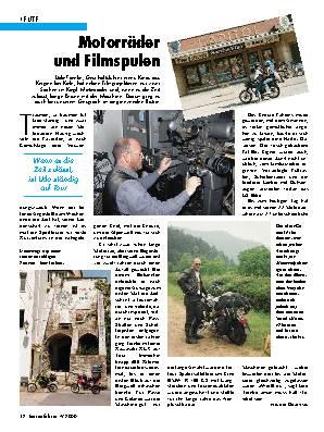 Motorräder und Filmspulen