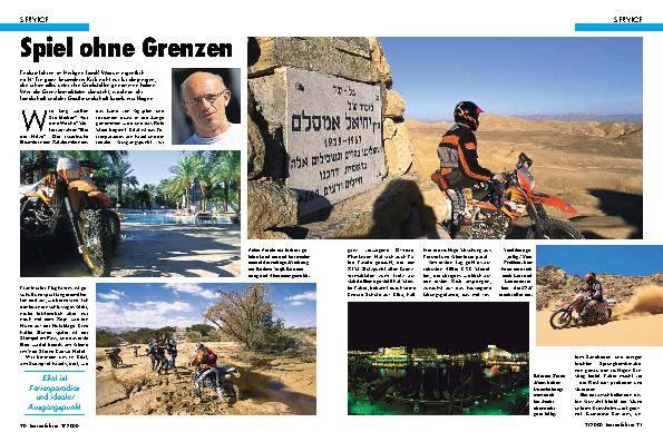 Motorradfahrern in Israel