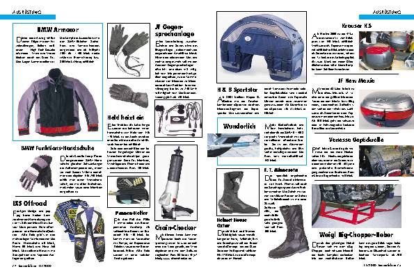 Ausrüstung Innovative Ideen für die Saison 2001