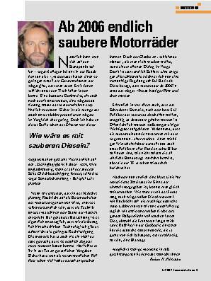 Ab 2006 endlic h saubere Motorräder