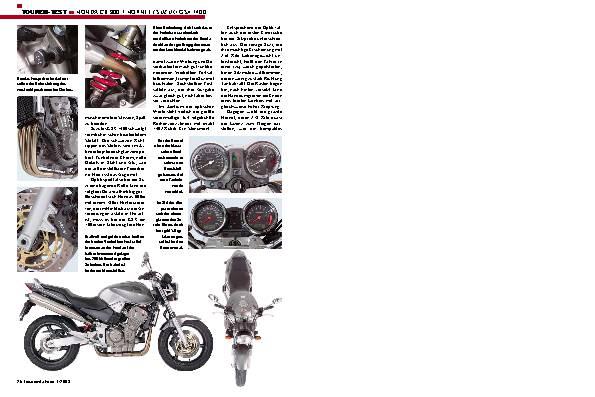 Honda CB 900 F Hornet/ Suzuki GSX 1400