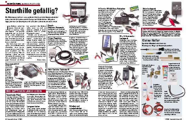 Batterie- Pflege