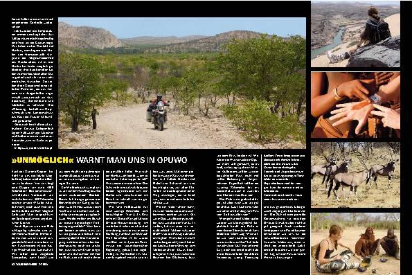 Namibia - Abenteuerliche Route durch wildes, unbekanntes Gebiet