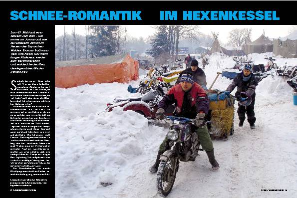 Schnee-Romantik im Hexenkessel