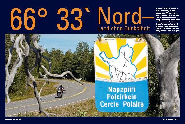 66° 33` Nord - Land ohne Dunkelheit