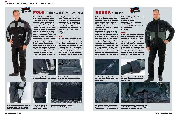 Ausrüstung - Langstreckentest Textil-Kombis