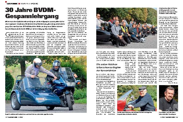 30 Jahre BVDM - Gespannlehrgang