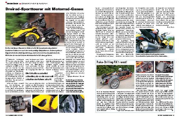 Dreirad-Sporttourer mit Motorrad-Genen