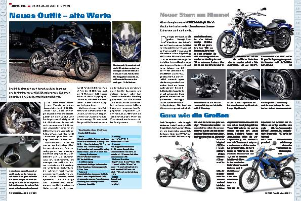 Neuheiten 2009 - Yamaha