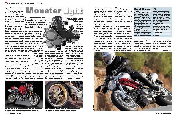 Fahrbericht  Ducati Monster 1100