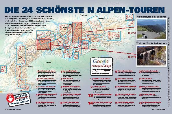 Die 24 schönsten Alpen-Touren