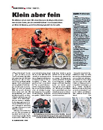 Kurztest - BMW F 650 GS