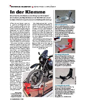 Motorrad-Transport - Vorderrad-Klemmständer