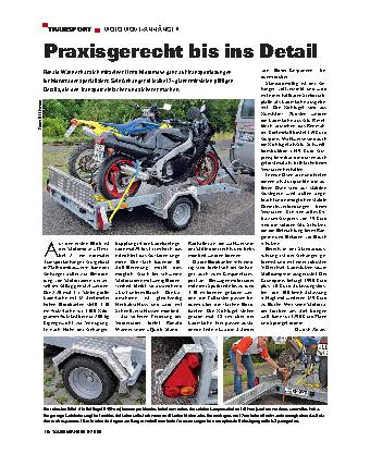 Transport - Motomove-Anhänger