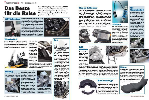 Ausrüstung - BMW F800 GS-Zubehör - Das Beste für die Reise