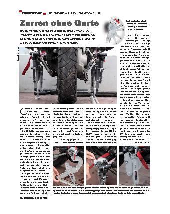 Transport - Moto-Cinch-Befestigungssystem