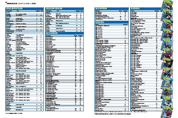 Service - Jahres-Inhalt 2009