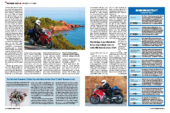 Touren-Test - Honda VFR 1200 F