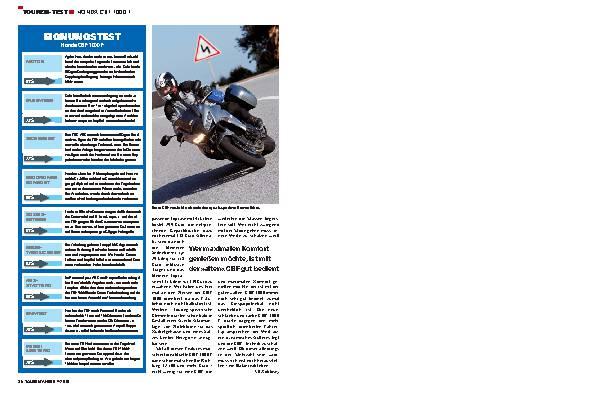 Touren-Test - Honda CBF 1000 F