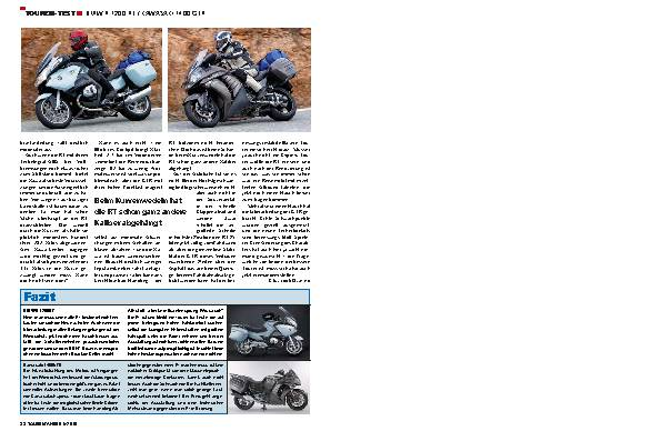 Touren-Test - BMW R 1200 RT/Kawasaki 1400 GTR