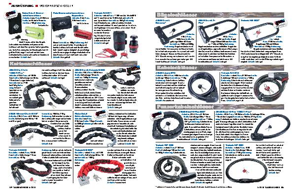 Ausrüstung - Motorradschlösser
