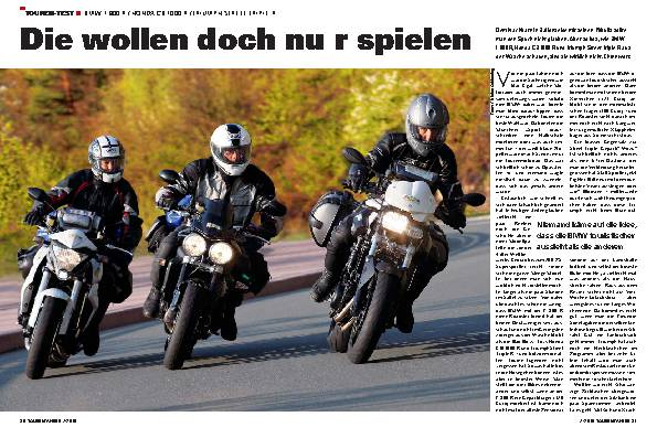 Touren-Test - BMW F 800 R / Honda CB 1000 R / Triumph Street Triple R