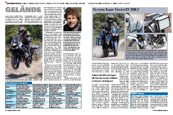 Touren-Test - BMW R 1200 GS Adventure, Ducati Multistrada 1200 S Touring, Honda Varadero 1000, Yamaha XT 1200 Z Super Ténéré