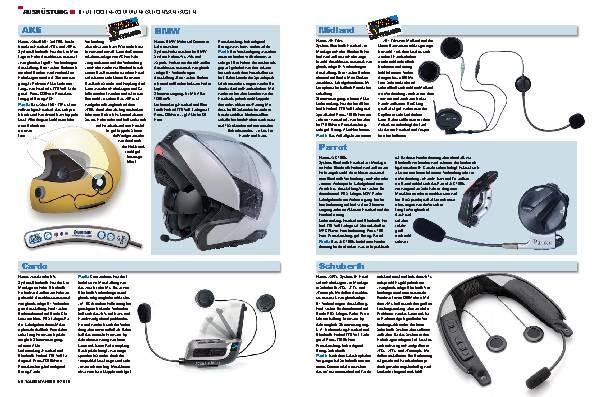 Ausrüstung - Bluetooth-Kommunikationsanlagen
