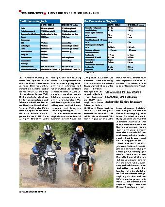 Touren-Test - BMW F 800 / KTM 900 ADVENTURE