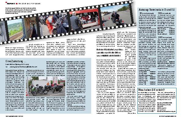 Report - Mit dem Bike per Bahn