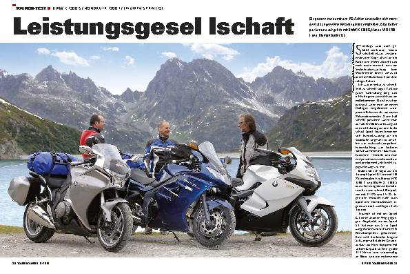 Touren-Test - BMW K 1300 S / Honda VFR 1200 F / Triumph Sprint GT