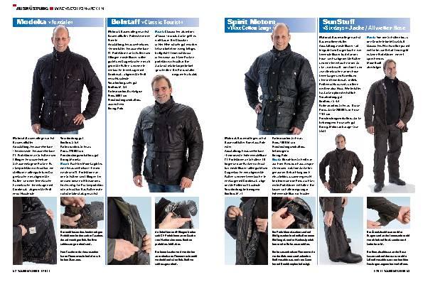 Ausrüstung - Wachscotton-Jacken