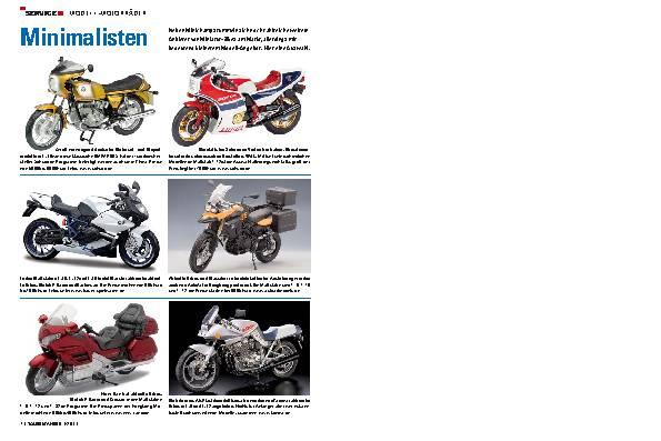 Service - Modell-Motorräder
