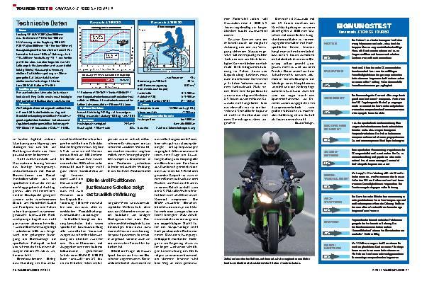 Touren-Test - Kawasaki Z1000 SX Tourer