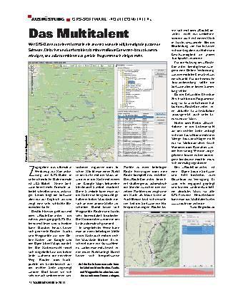 Ausrüstung - GPS-Software »Routeconverter«