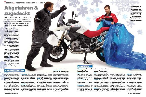 Service - Motorrad einmotten/winterfest machen