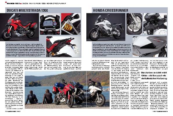 Touren-Test - Ducati Multistrada 1200 / Honda Crossrunner