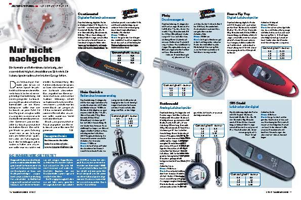 Ausrüstung - Luftdruckprüfer