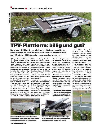 Transport - TPV-Plattformhänger