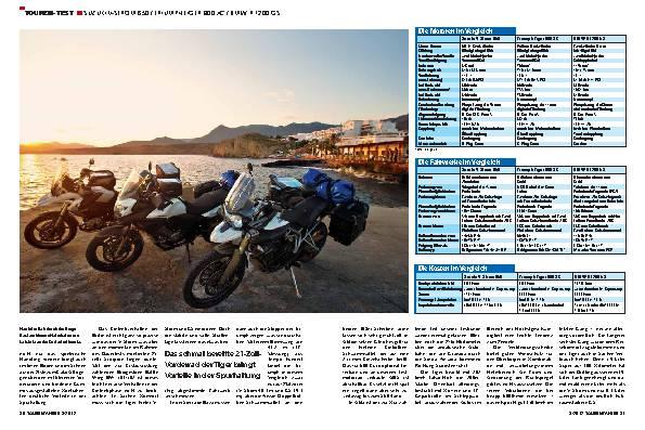 Vergleichstest: BMW R 1200 GS, Suzuki V-Strom 650, Triumph Tiger 800 XC