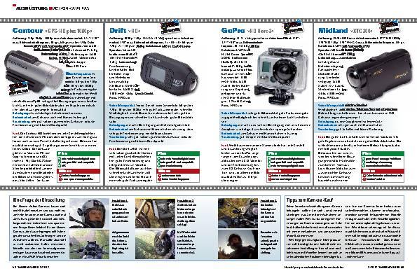Ausrüstung - Bewegte Bilder von unterwegs – Acht Action-Kameras im Test