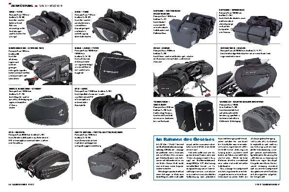 Ausrüstung - Die weiche Alternative: Marktübersicht Satteltaschen