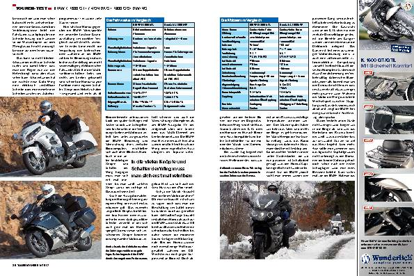 Touren-Test: BMW K 1600 GTL / Honda GL 1800 Gold Wing