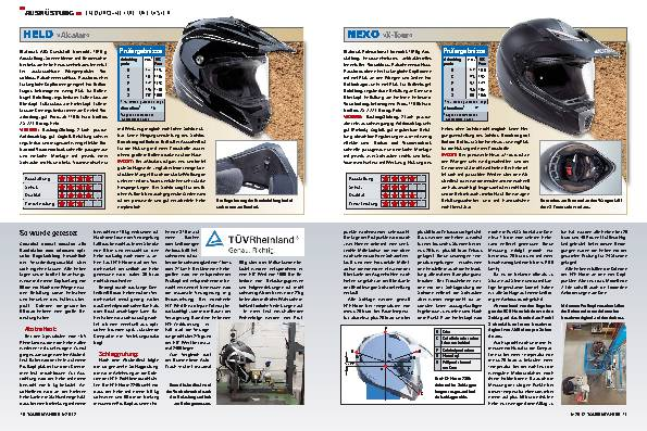 Ausrüstung - Enduro-Helme mit Visir