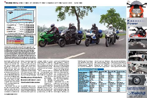 Vergleichstest: BMW K 1300 S HP, Honda VFR 1200 F, Kawasaki ZZR 1400, Suzuki Hayabusa 1300