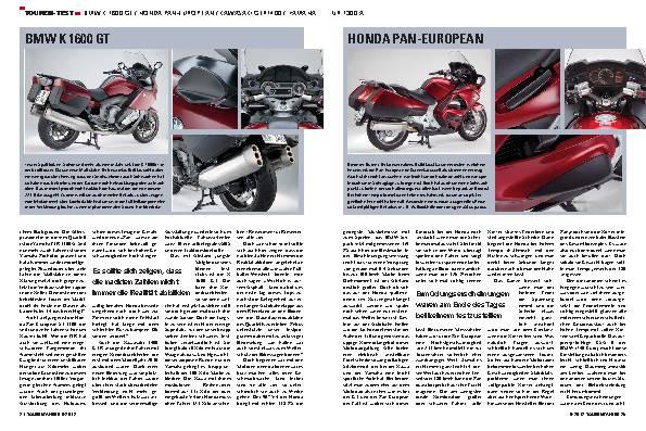 Vergleichstest: BMW K 1600 GT, Honda Pan-European, Kawasaki 1400GTR, Yamaha FJR 1300 A