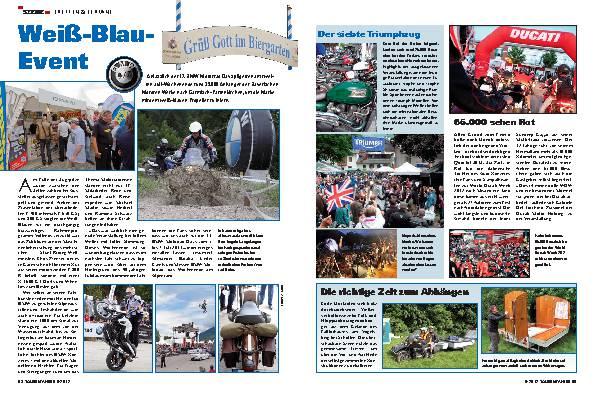 BMW Motorrad Days, Treffen und Termine